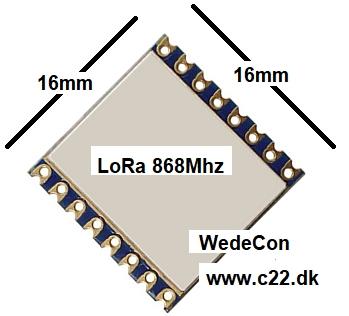Kundetilpasset LoRa LoRAWAN SIGFOX module elektronik
