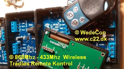 remotekontrol 433Mhz elektronikudvikling prototype produktmodning