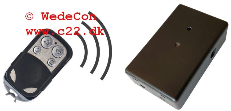 433Mhz Remote Control Bluechimney elektronikudvikling