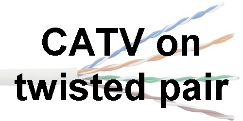 CATV on twisted pair elektronik udvikling